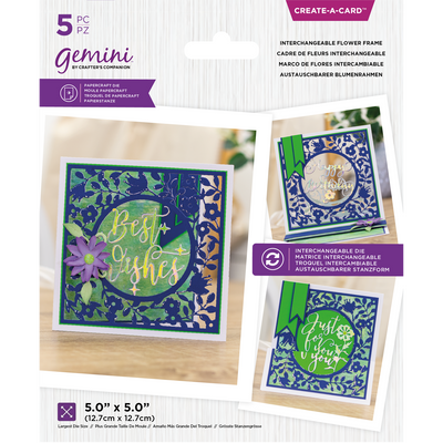 Gemini by Crafters Companion Create A Card - Interchangeable Flower Frame