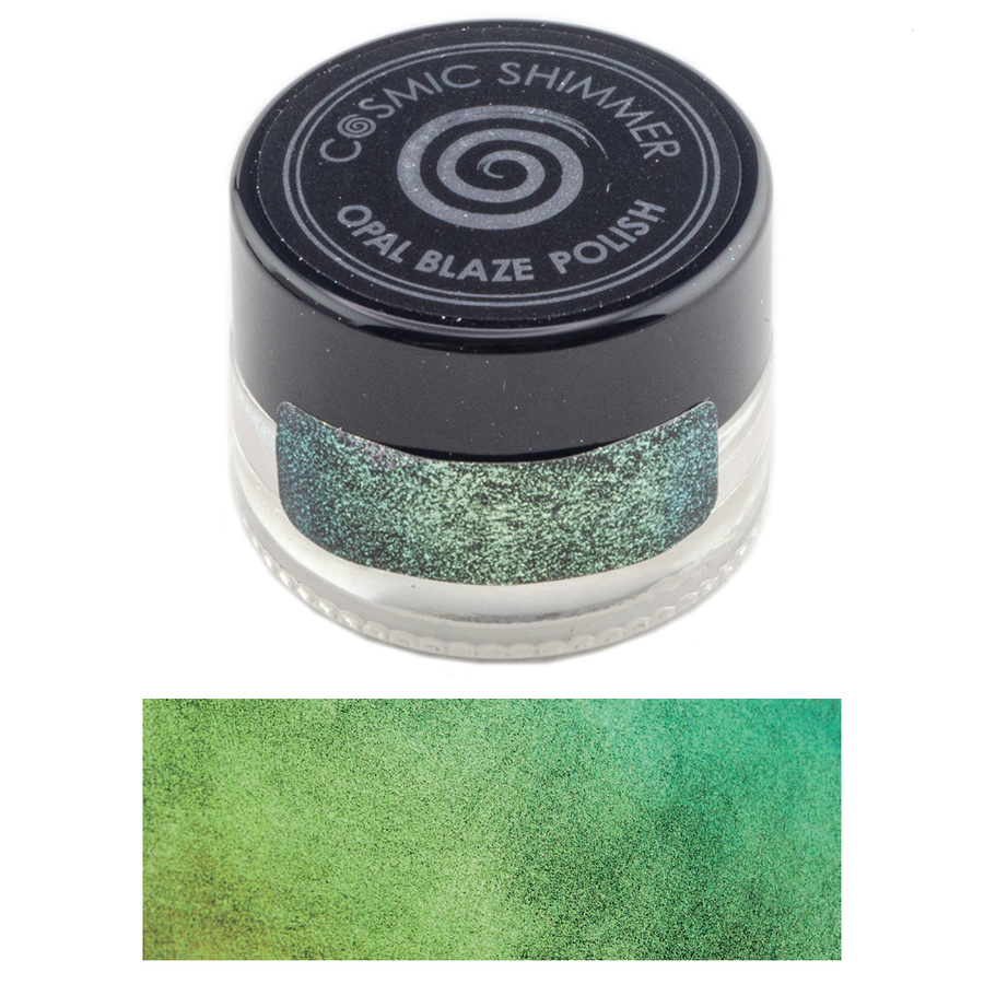 Cosmic Shimmer - Opal Blaze Polish 7g - Gilded Avocado