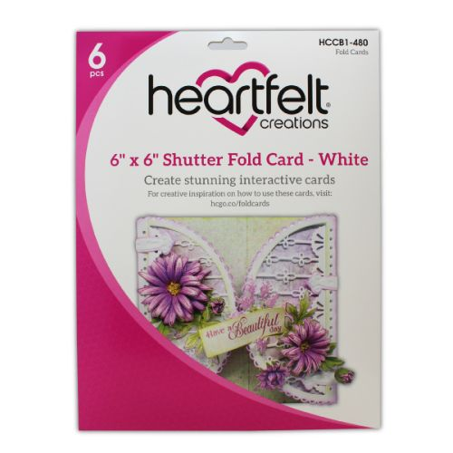 "Heartfelt Creations - 6"" x 6"" Shutter Fold Card - White - HCCB1-480"