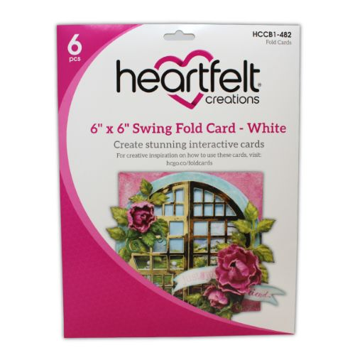 "Heartfelt Creations - 6"" x 6"" Swing Fold Card - White - HCCB1-482"