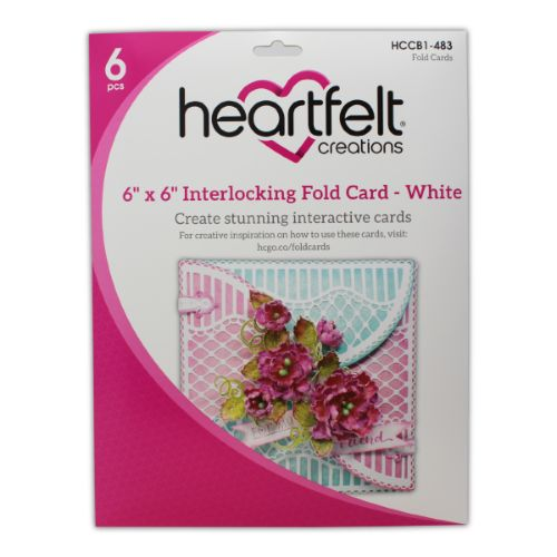 "Heartfelt Creations - 6"" x 6"" Interlocking Fold Card - White - HCCB1-483"