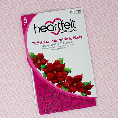 Heartfelt Creations - Christmas Poinsettia & Holly Die - HCD1-7249