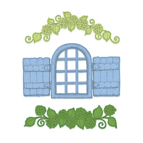 Heartfelt Creations - Cottage Window & Hydrangea Die - HCD1-7280