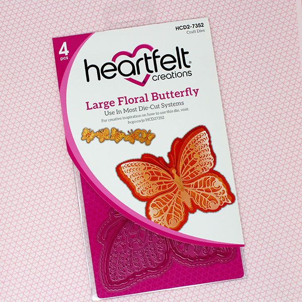 Heartfelt Creations - Large Floral Butterfly Die - HCD1-7352