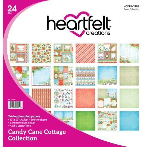 Heartfelt Creations - Candy Cane Cottage Paper Collection - HCDP1-2105