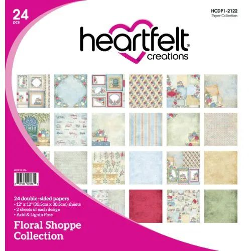 Heartfelt Creations - Floral Shoppe Paper Collection - HCDP1-2122