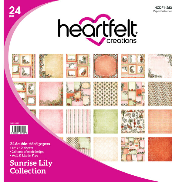 Heartfelt Creations: Sunrise Lily Paper Collection