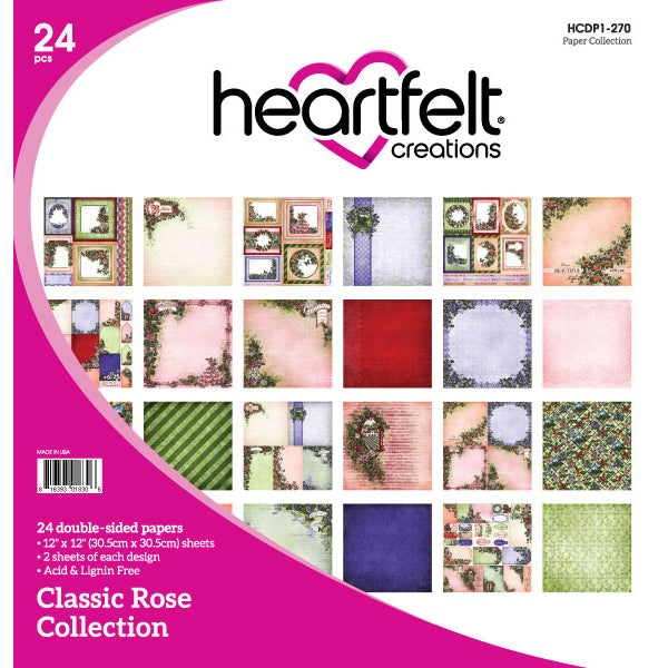 Heartfelt Creations: Classic Rose Paper Collection