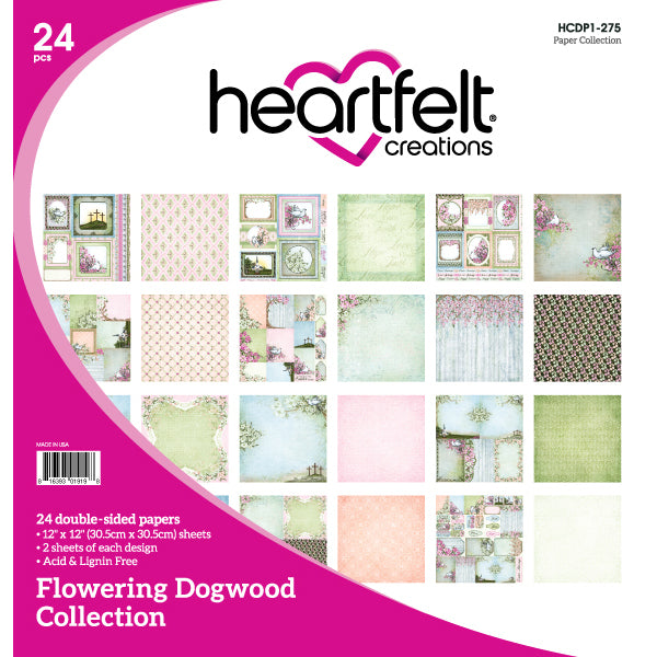 Heartfelt Creations: Flowering Dogwood Paper Collection