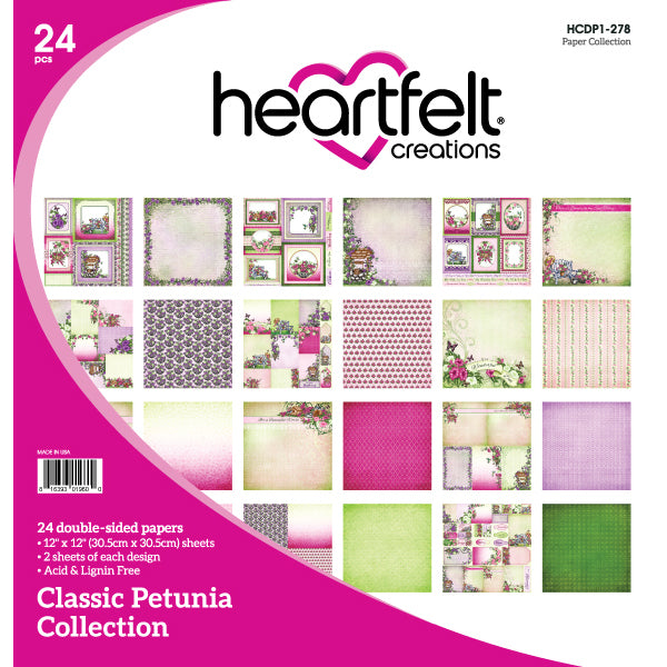 Heartfelt Creations: Classic Petunia Paper Collection