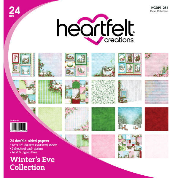 Heartfelt Creations: Winters Eve Paper Collection - HCDP1-281