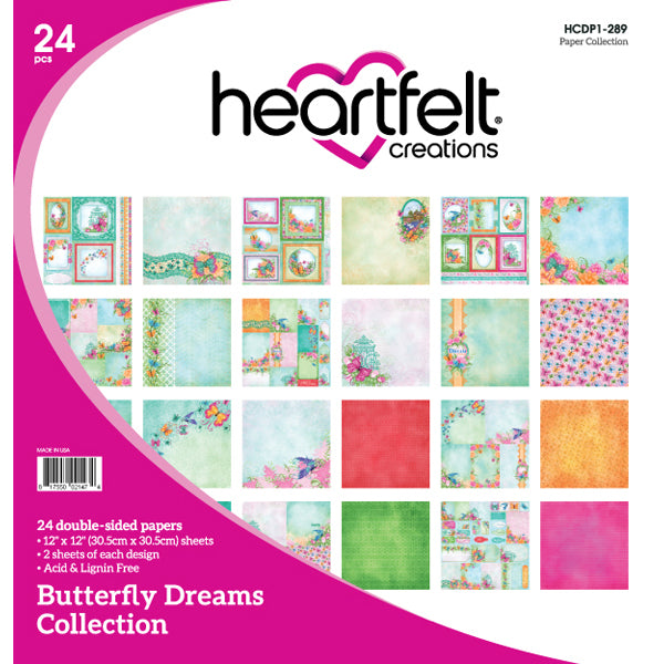 Heartfelt Creations: Butterfly Dreams Paper Collection - (HCDP1-289)
