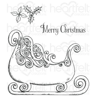 Heartfelt Creations Stamp: Ornate Sleigh (HCPC-3745)