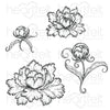Heartfelt Creations Stamp: Peony Bud and Blo Cling Stamp Set (HCPC-3821)