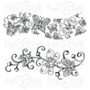 Heartfelt Creations Stamp: Butterfly Dreams Border Cling Stamp Set (HCPC-3823)