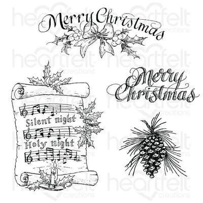 Heartfelt Creations - Silent Night Scroll - Stamp & Die Bundle
