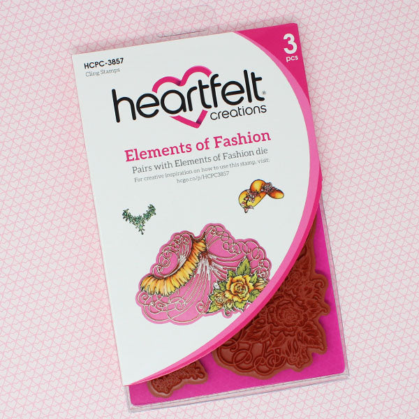 Heartfelt Creations - Elements of Fashion Cling Stamp Set - (HCPC-3857)