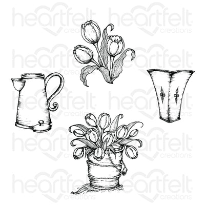 Heartfelt Creations - Tulip Bouquet Stamp Set - HCPC-3859