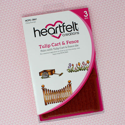 Heartfelt Creations - Tulip Cart & Fence Stamp Set - HCPC-3861