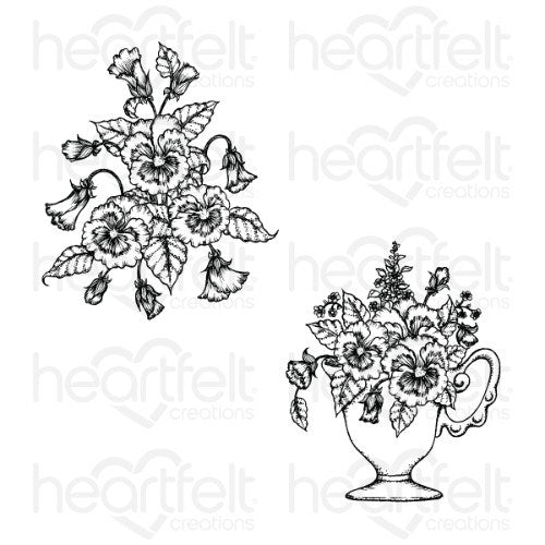 Heartfelt Creations - Burst of Spring Cling Stamp Set - HCPC-3863