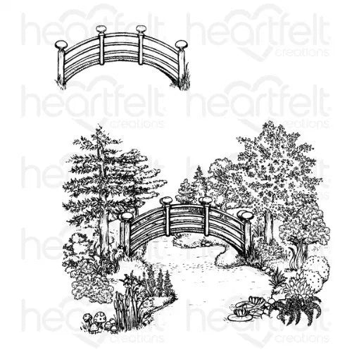 Heartfelt Creations - Haven of Daydreams Cling Stamp Set - HCPC-3869