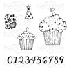 Heartfelt Creations - Sprinkled Confetti Cupcakes Cling Stamp Set - HCPC-3871