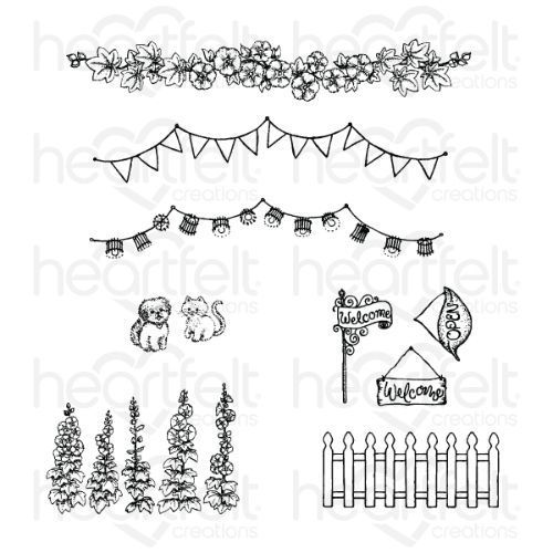 Heartfelt Creations - Elements of Home Cling Stamp Set - HCPC-3880