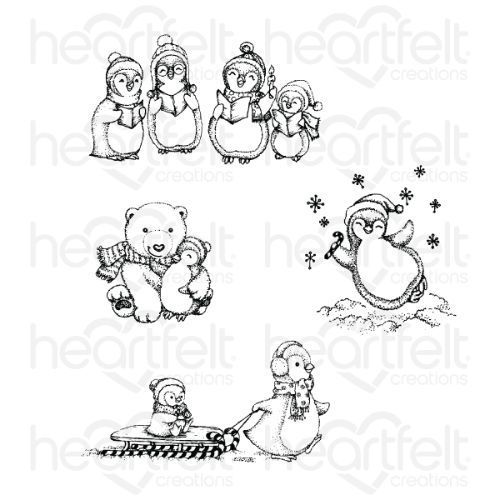 Heartfelt Creations - Merry Moments Cling Stamp Set - HCPC-3885
