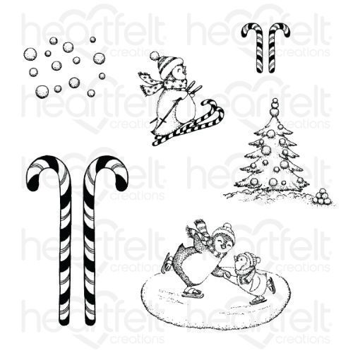 Heartfelt Creations - Season of Glee Cling Stamp Set - HCPC-3886