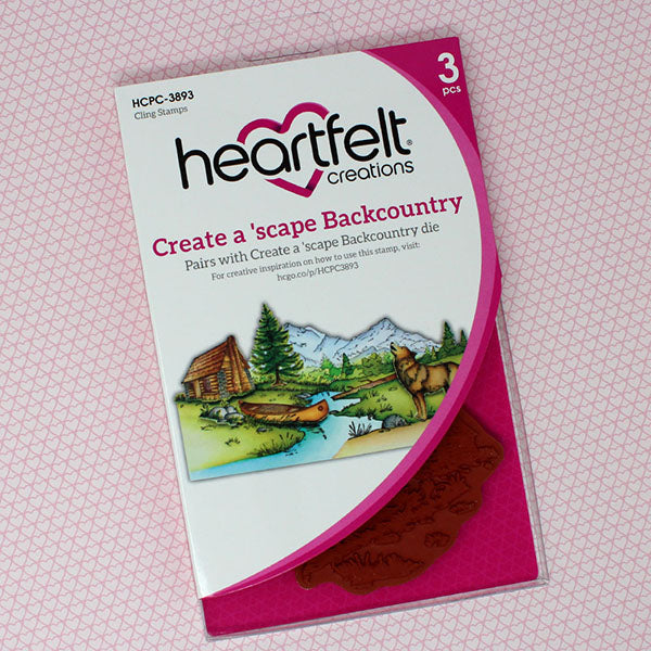Heartfelt Creations - Create a 'scape Backcountry Cling Stamp Set - HCPC-3893