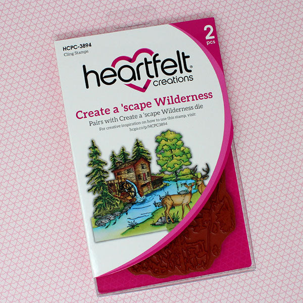 Heartfelt Creations - Create a 'scape Wilderness Cling Stamp Set - HCPC-3894