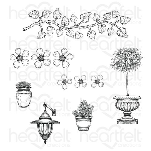 Heartfelt Creations - French Cottage 'scapes Cling Stamp Set - HCPC-3909