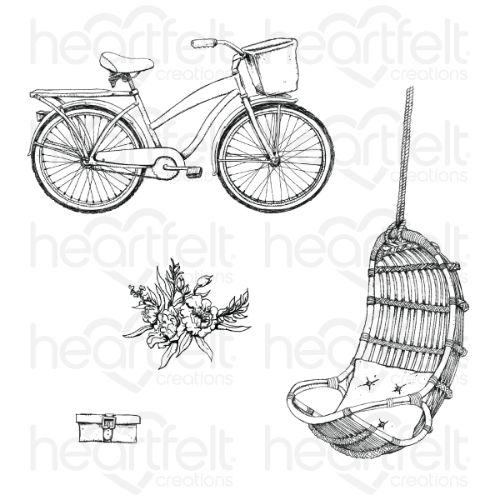 Heartfelt Creations - Cottage Lifestyle Cling Stamp Set - HCPC-3910