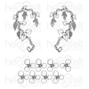 Heartfelt Creations - Wisteria Petals Cling Stamp Set - HCPC-3911