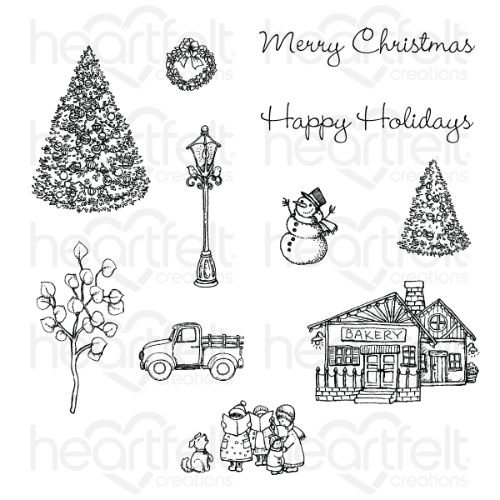 Heartfelt Creations - Festive Winterscapes Cling Stamp Set - HCPC-3921