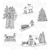 Heartfelt Creations - Woodsy Winterscapes Cling Stamp Set - HCPC-3922