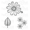Heartfelt Creations - Large Garden Zinnia Cling Stamp Set - HCPC-3923