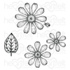 Heartfelt Creations - Small Garden Zinnia Cling Stamp Set - HCPC-3924