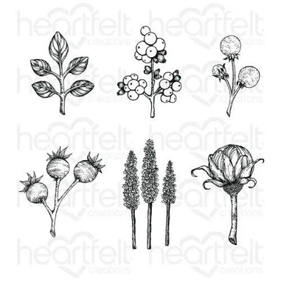 Heartfelt Creations - Floral Shoppe Accents Cling Stamp Set - HCPC-3932