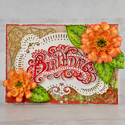 Heartfelt Creations - Special Sentiments - Elaborate Birthday Cling Stamp Sett -  HCPC-3937