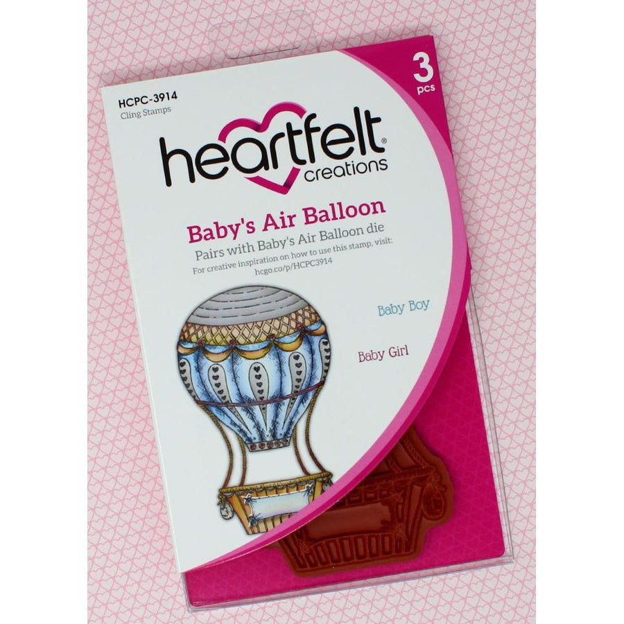 Heartfelt Creations - Baby's Air Balloon Cling Stamp Set - HCPC-3914
