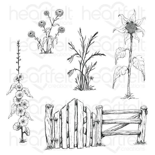 Heartfelt Creations - Barnyard Accents Cling Stamp Set - HCPC-3927