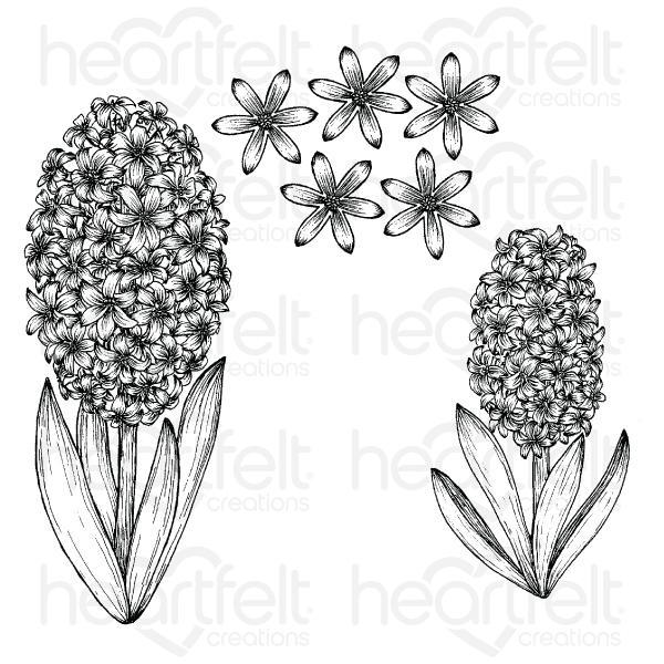 Heartfelt Creations - Fragrant Hyacinth Cling Stamp Set - HCPC-3947