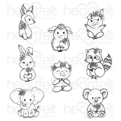 Heartfelt Creations - Baby's Friends Cling Stamp Set - HCPC-3916