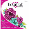Heartfelt Creations - Deluxe Flower Shaping Paper Pack of 25 - White - HCPP1-468
