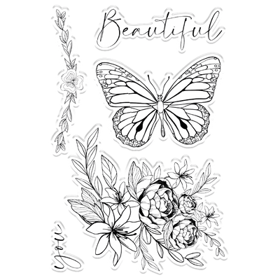 Crafters Companion Clear Acrylic Stamps - Beautiful You