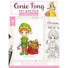 Conie Fong Photopolymer Stamp - Santa's L:ittle Helper