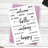 Crafters Companion Stamp - Happy Sentiments