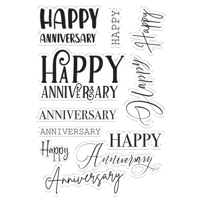 Crafters Companion Stamp - Happy Anniversary
