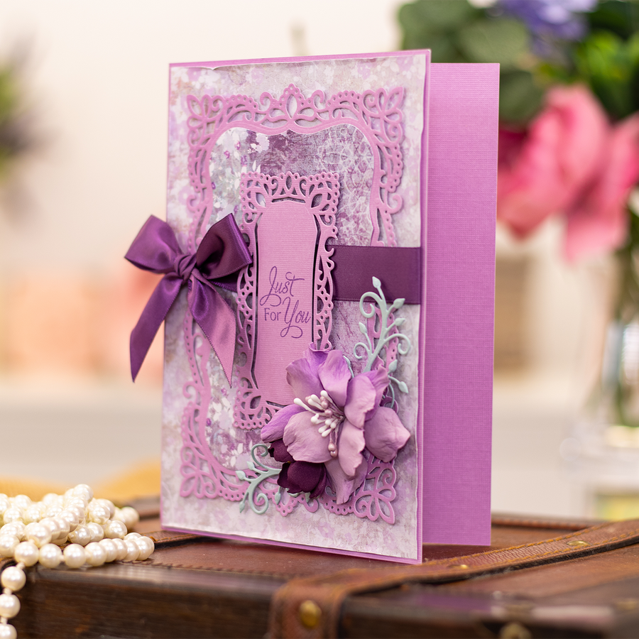 Sara Signature Collection by Crafters Companion - Vintage Lace - Cut and Emboss Folder - Provence Frame